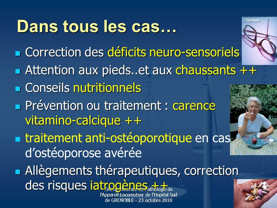 Dans tous les cas… Correction des déficits neuro-sensoriels