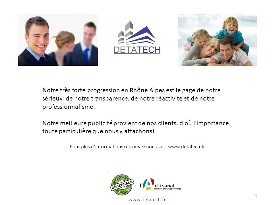 Pour plus d'informations retrouvez nous sur : www.detatech.fr