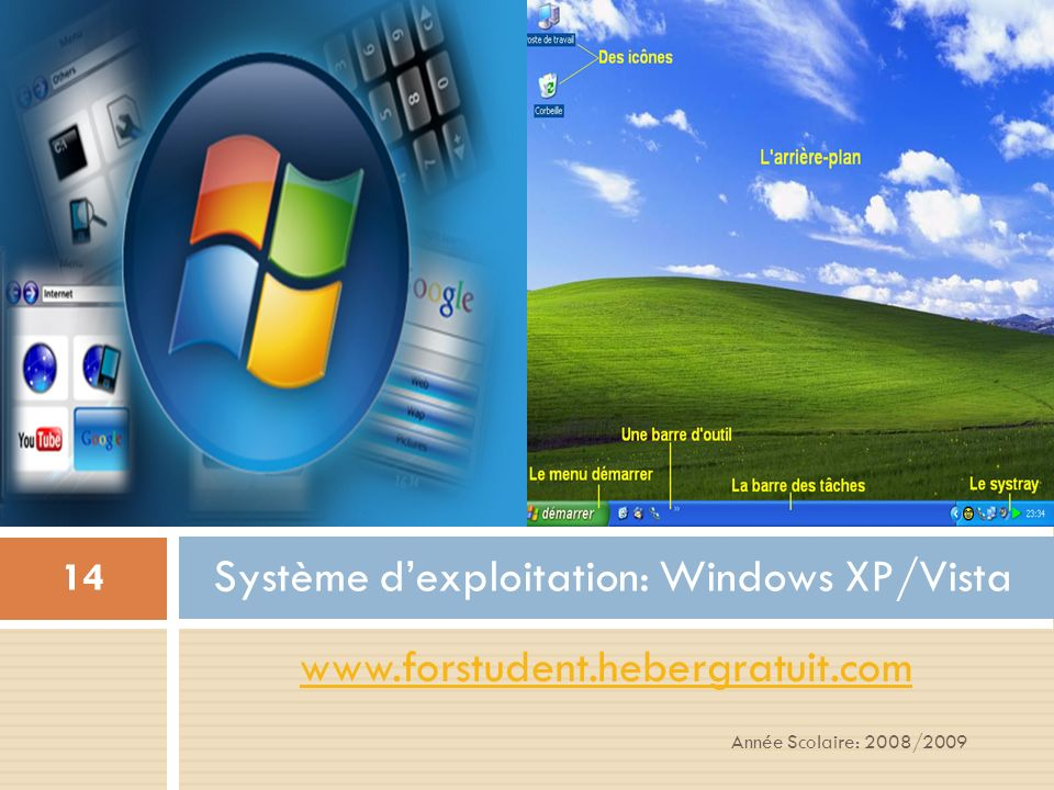 Système d'exploitation: Windows XP/Vista