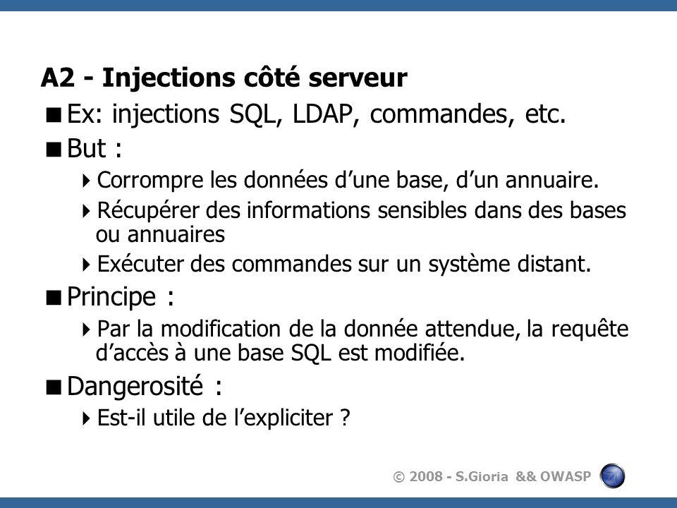 A2 - Injections côté serveur