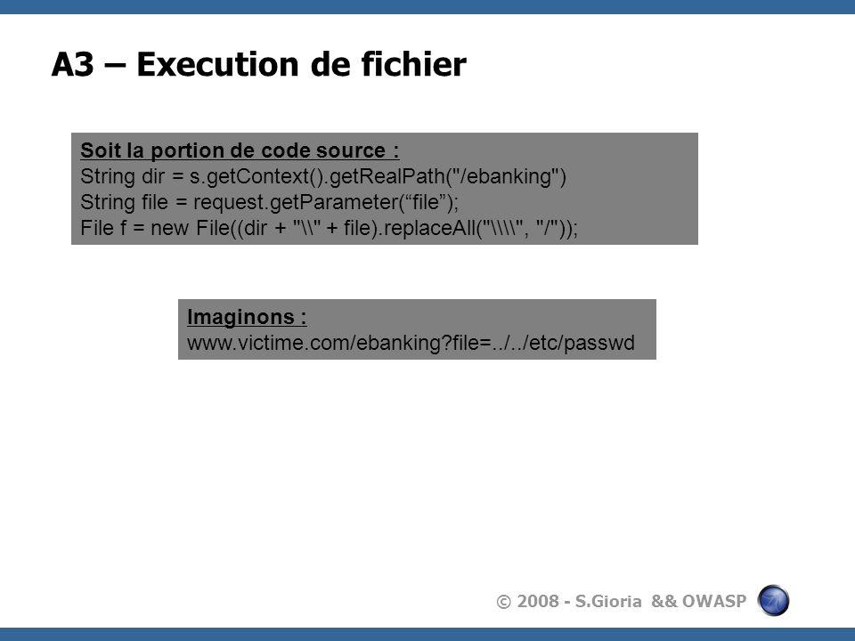 A3 – Execution de fichier