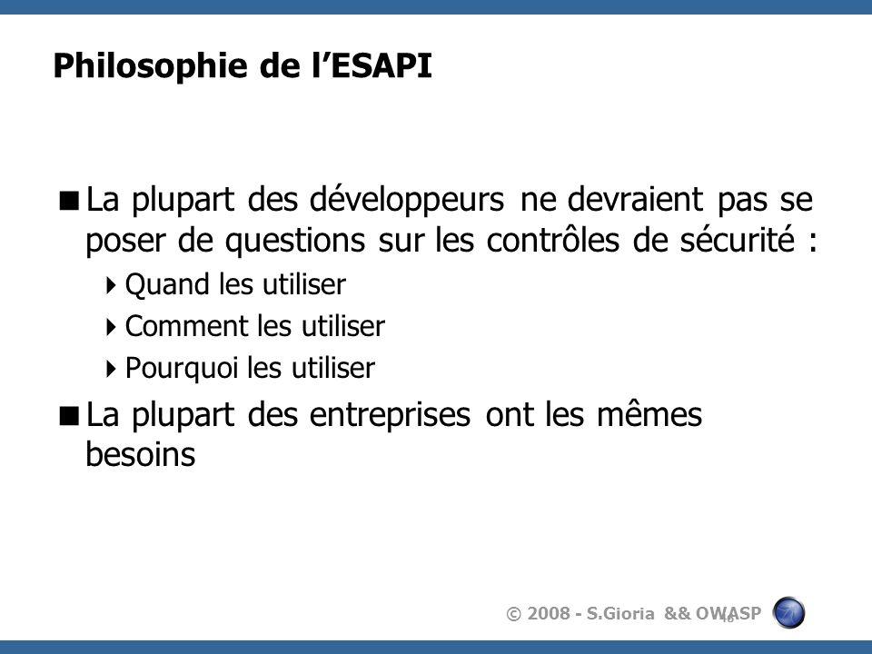 Philosophie de l'ESAPI