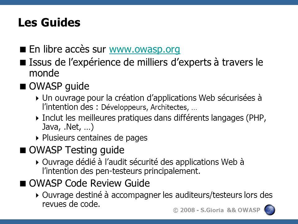 Les Guides En libre accès sur www.owasp.org