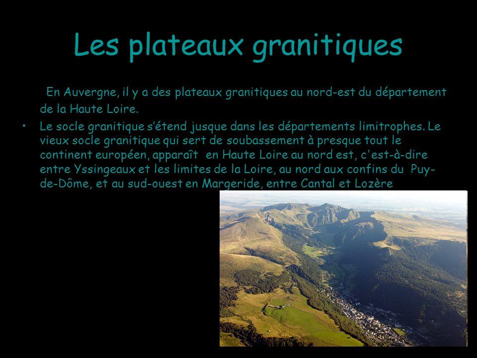 Les plateaux granitiques