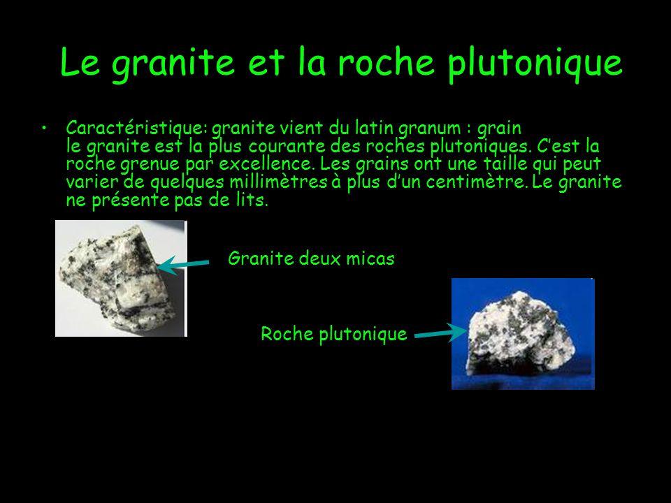 Le granite et la roche plutonique