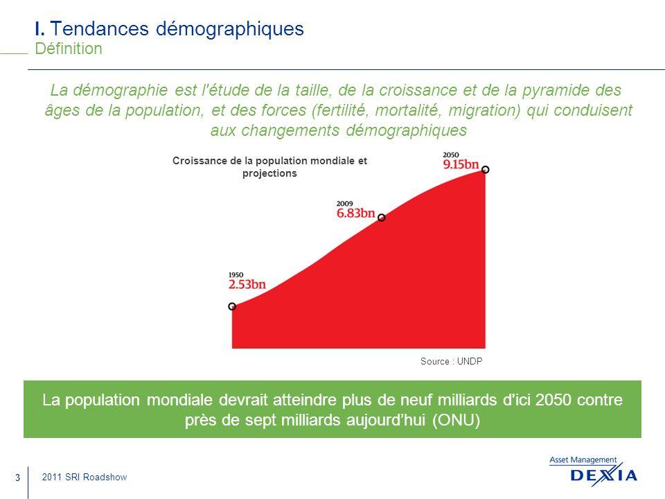 I. Tendances démographiques Définition