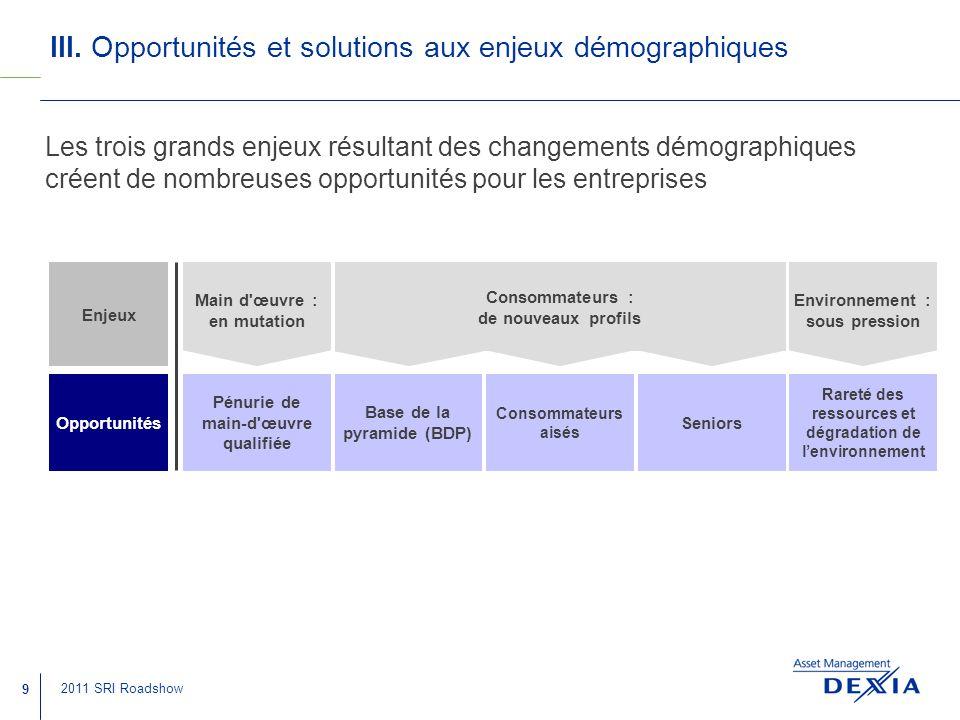 III. Opportunités et solutions aux enjeux démographiques