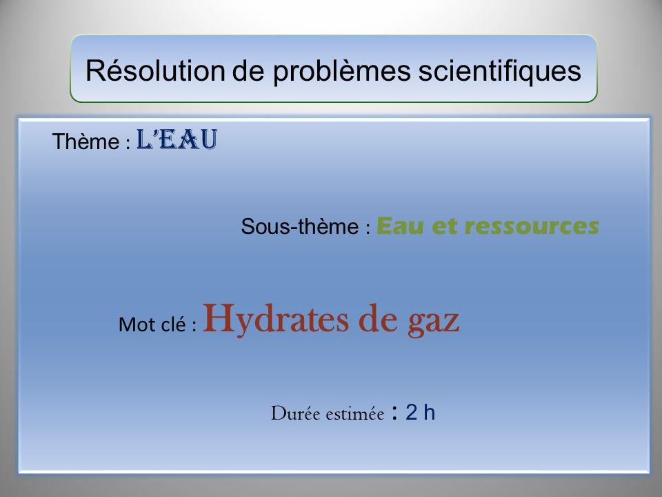 Résolution de problèmes scientifiques