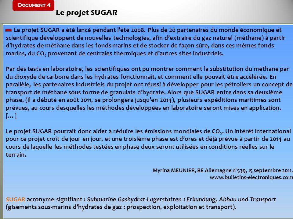 Document 4 Le projet SUGAR