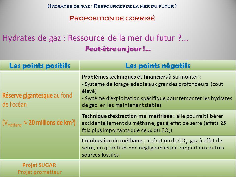 Hydrates de gaz : Ressource de la mer du futur ...
