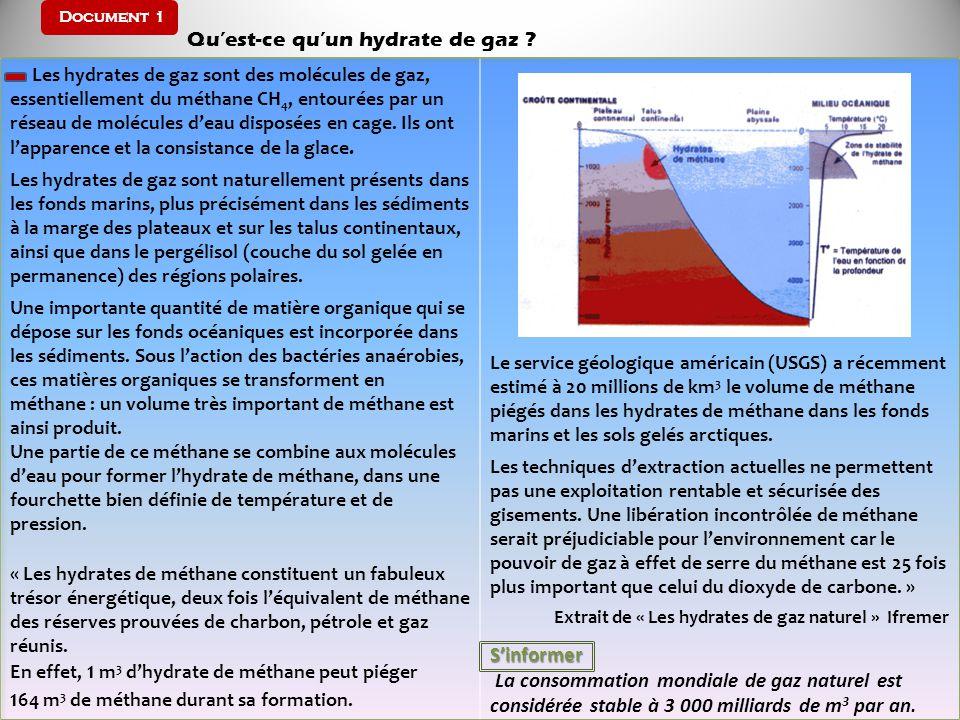 Document 1 Qu'est-ce qu'un hydrate de gaz