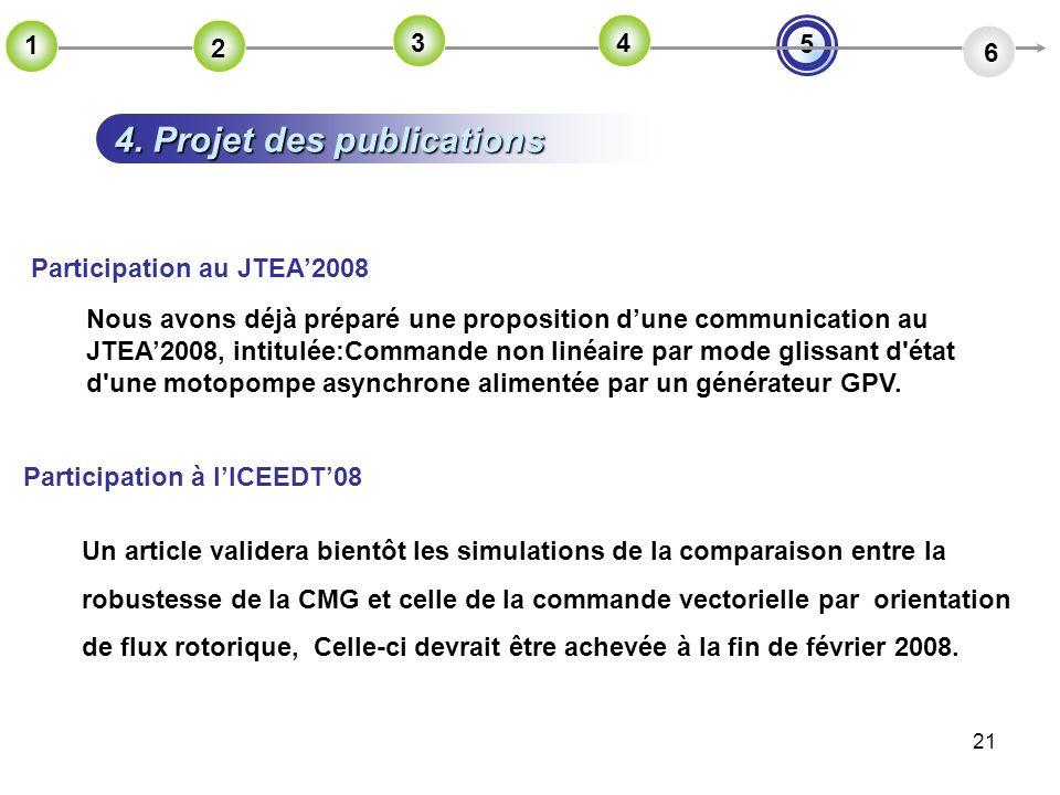 4. Projet des publications