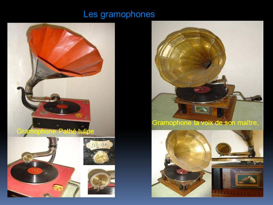 Les gramophones Gramophone la voix de son maître,