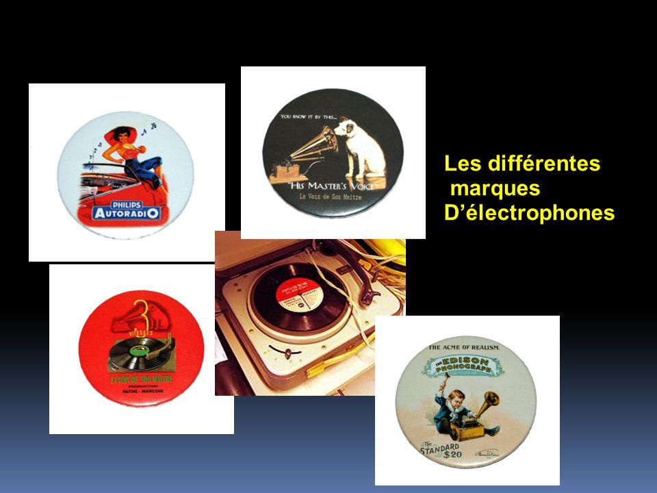 Les différentes marques D'électrophones