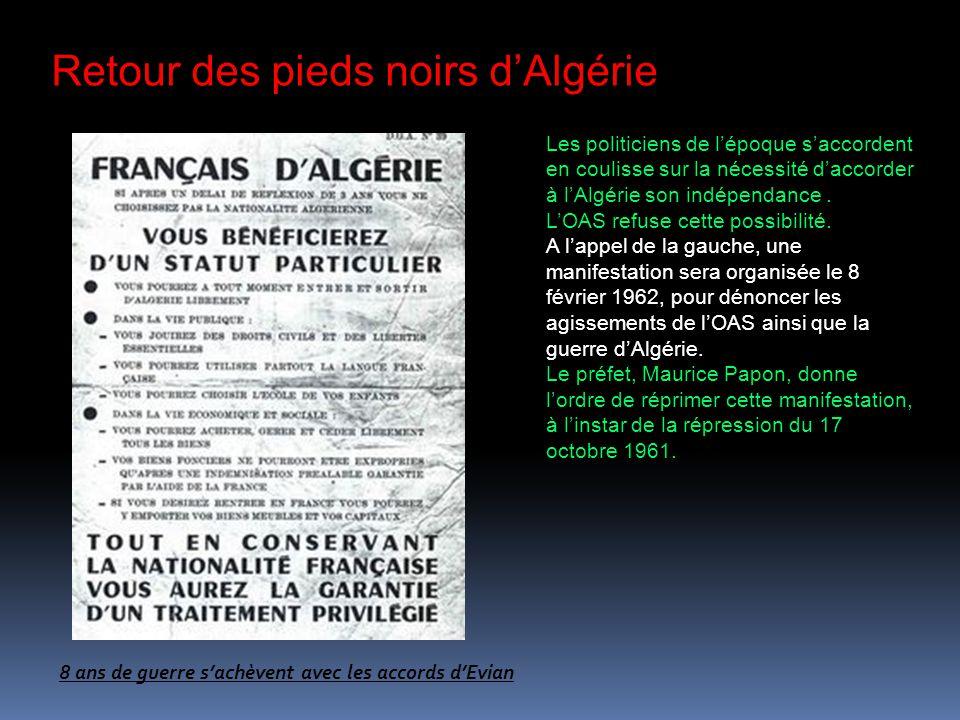 Retour des pieds noirs d'Algérie
