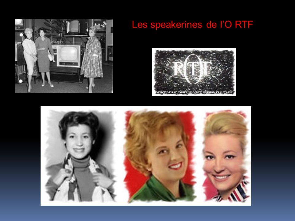 Les speakerines de l'O RTF