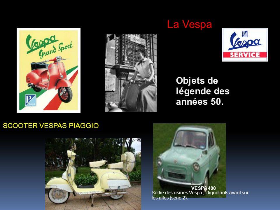 La Vespa Objets de légende des années 50. SCOOTER VESPAS PIAGGIO