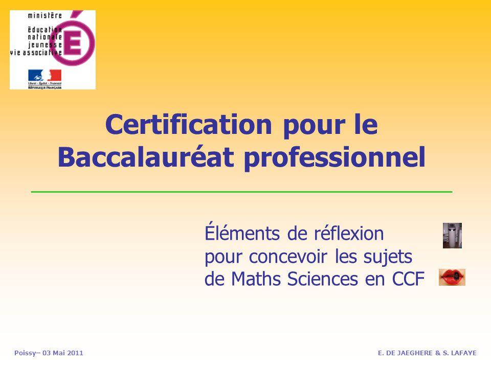 Certification pour le Baccalauréat professionnel