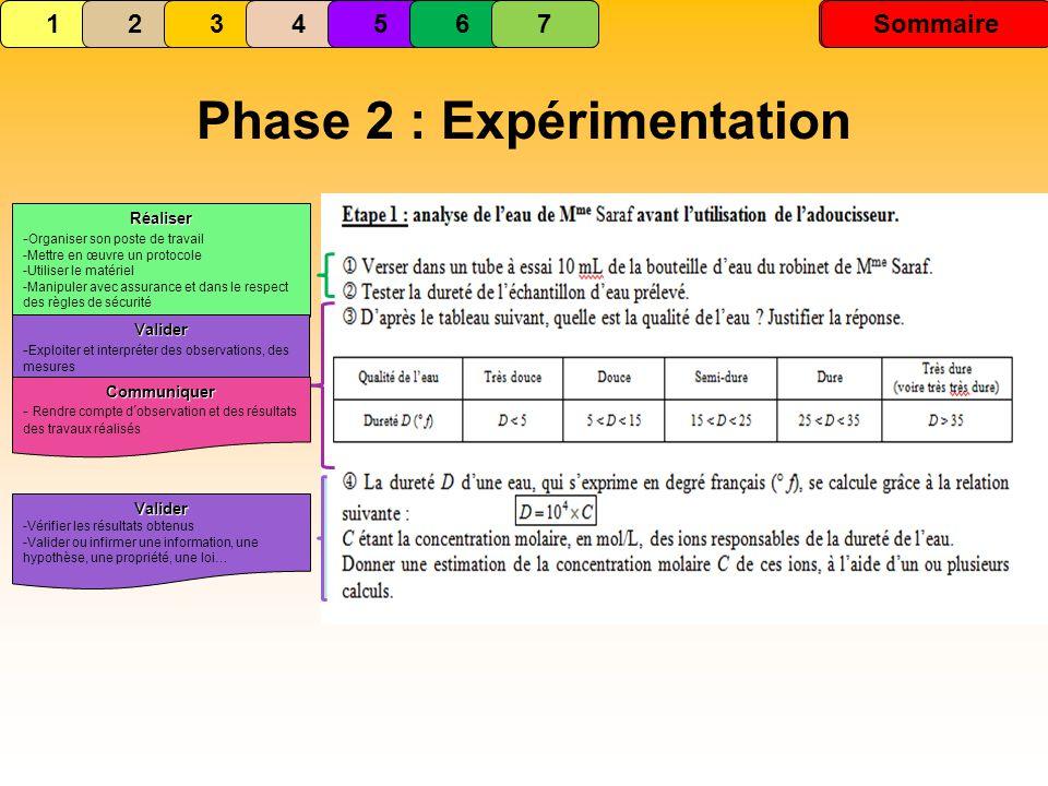 Phase 2 : Expérimentation