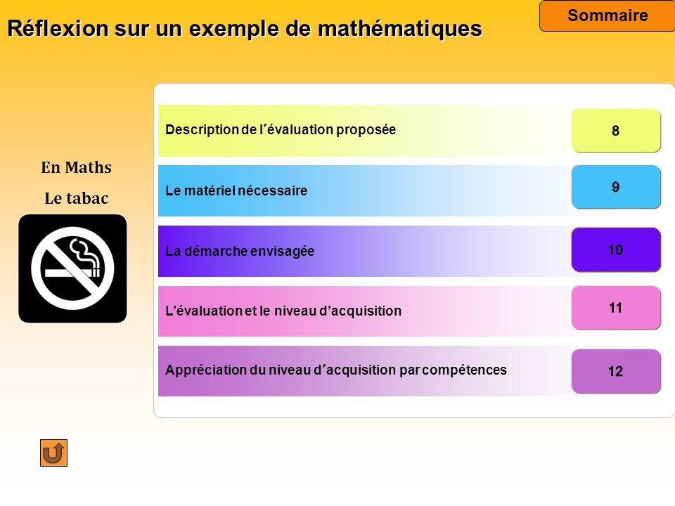 Réflexion sur un exemple de mathématiques