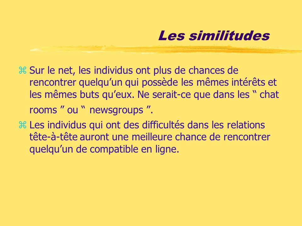 Les similitudes