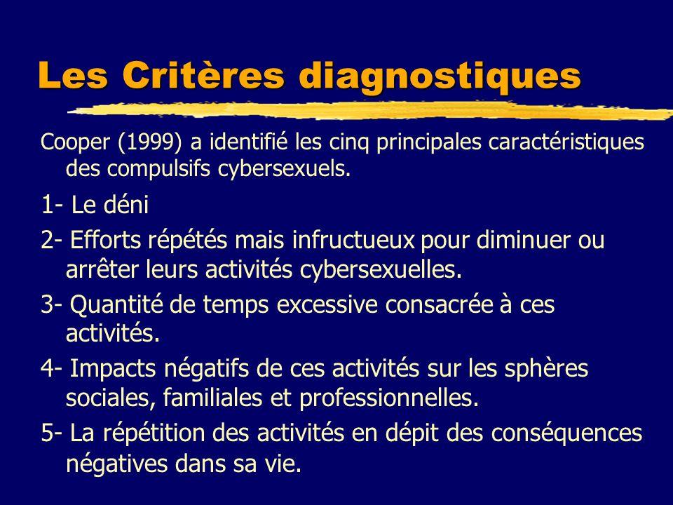 Les Critères diagnostiques