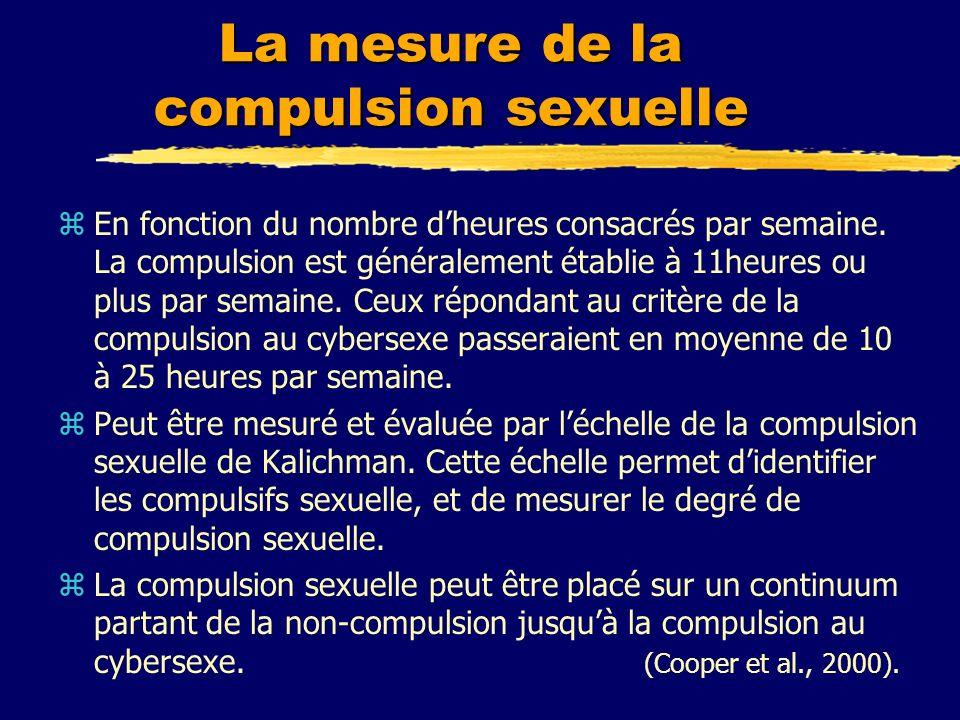 La mesure de la compulsion sexuelle