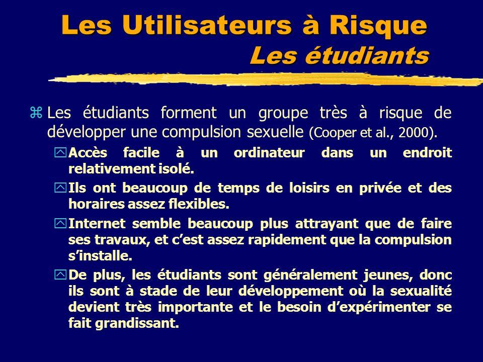Les Utilisateurs à Risque Les étudiants