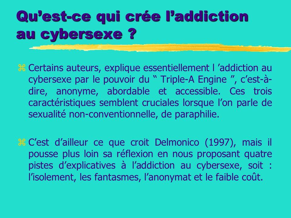 Qu'est-ce qui crée l'addiction au cybersexe