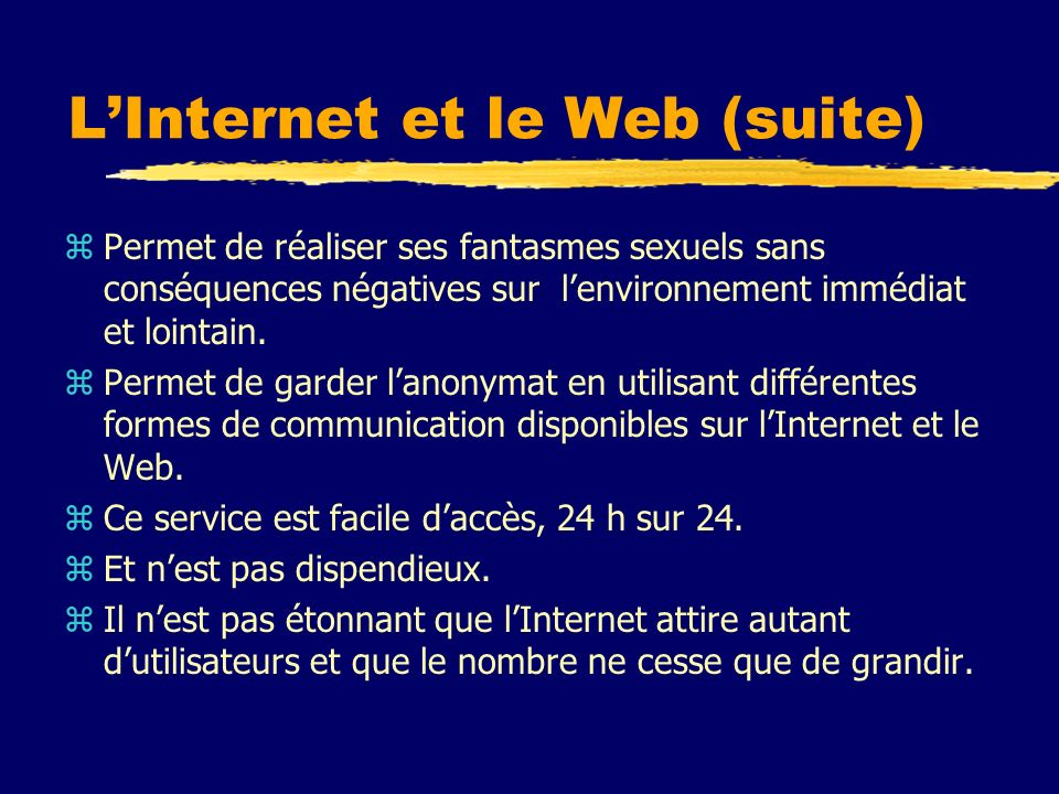 L'Internet et le Web (suite)