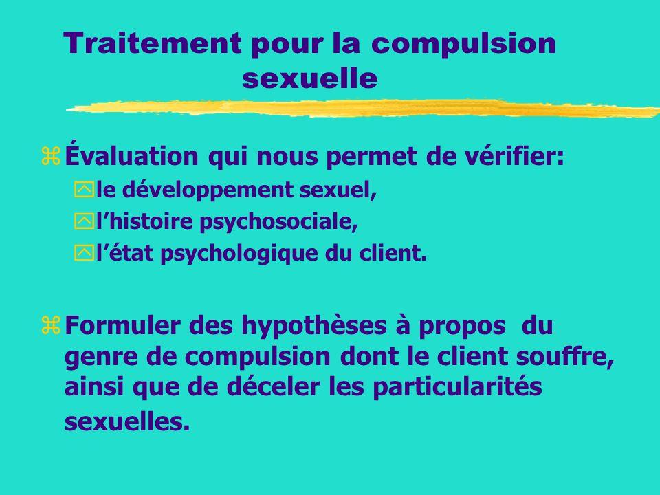 Traitement pour la compulsion sexuelle