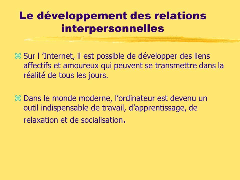 Le développement des relations interpersonnelles