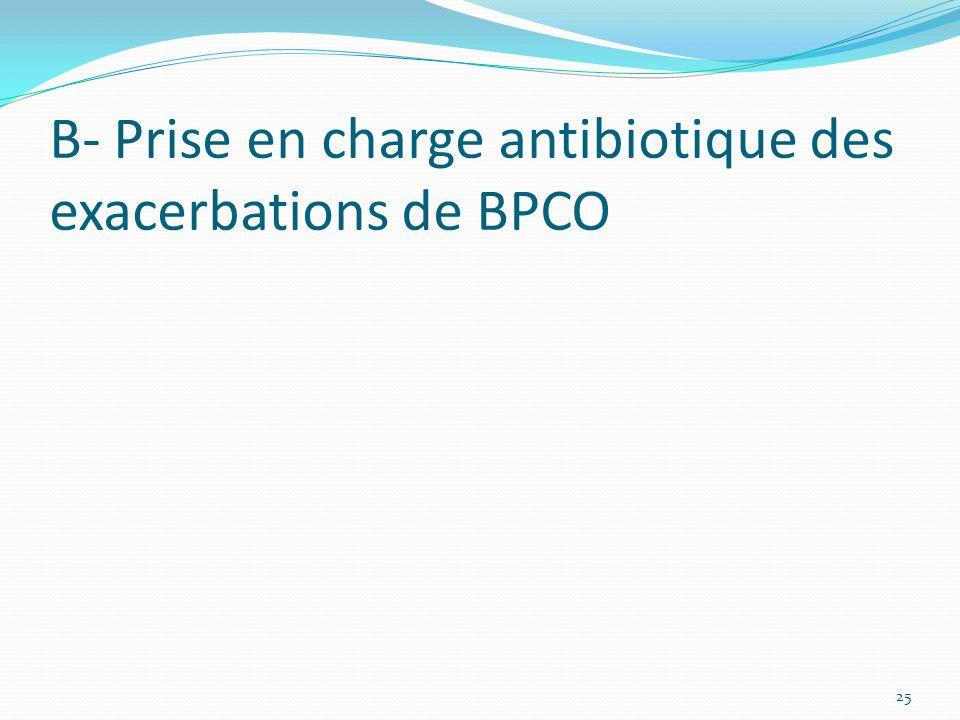 B- Prise en charge antibiotique des exacerbations de BPCO
