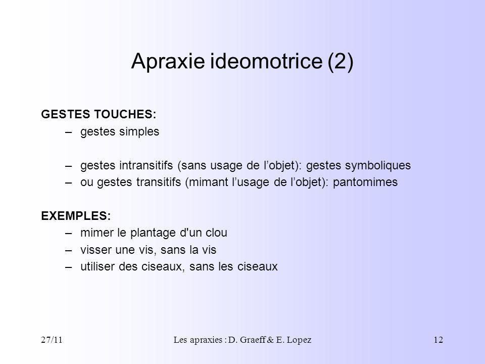 Apraxie ideomotrice (2)