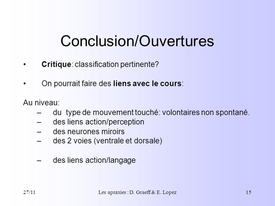 Conclusion/Ouvertures