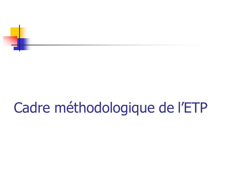 Cadre méthodologique de l'ETP