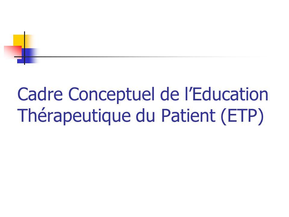 Cadre Conceptuel de l'Education Thérapeutique du Patient (ETP)