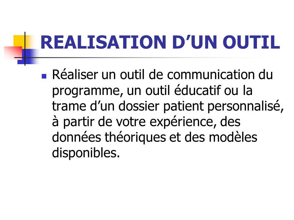 REALISATION D'UN OUTIL