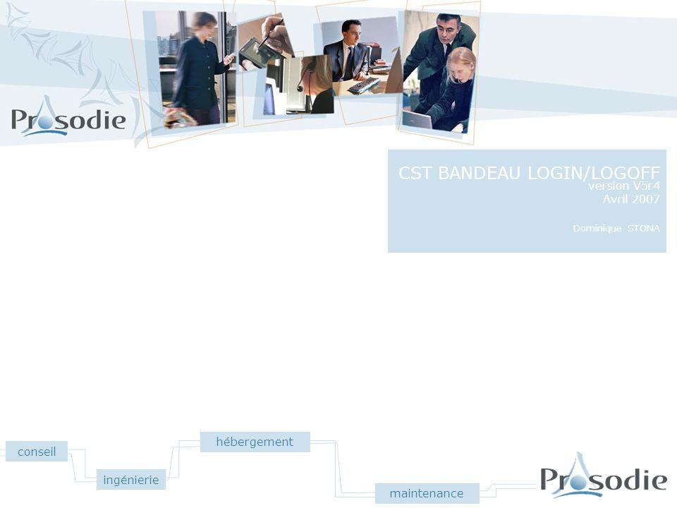CST BANDEAU LOGIN/LOGOFF
