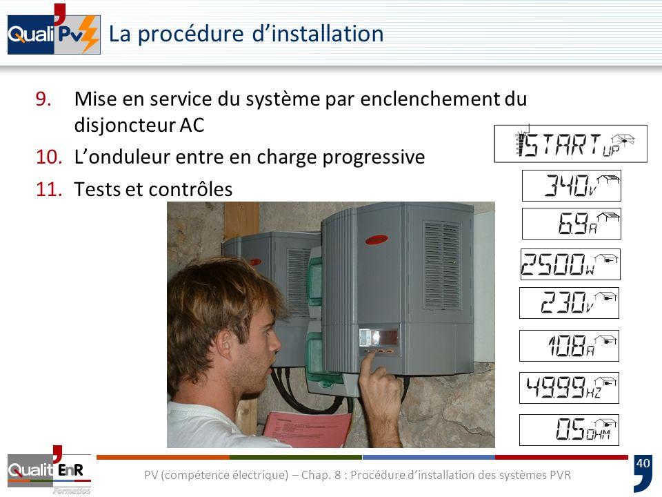 La procédure d'installation