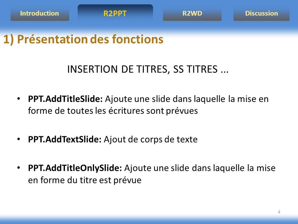 INSERTION DE TITRES, SS TITRES ...