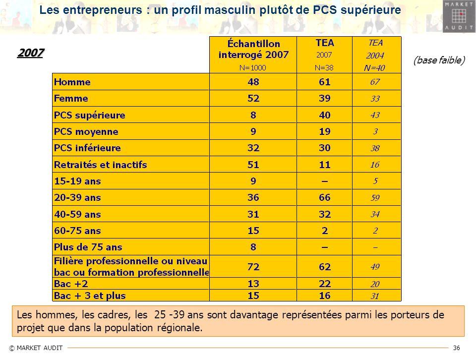 Les entrepreneurs : un profil masculin plutôt de PCS supérieure