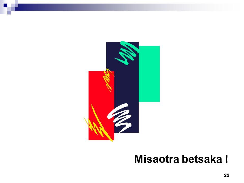 Misaotra betsaka !
