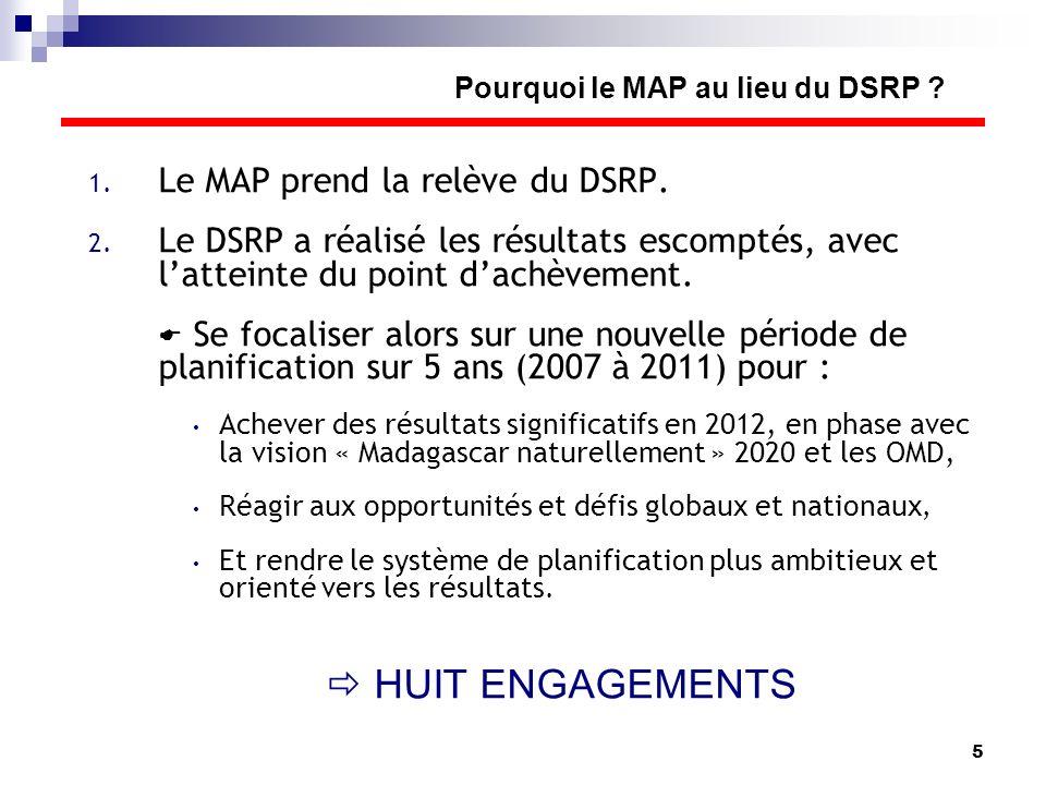 Pourquoi le MAP au lieu du DSRP