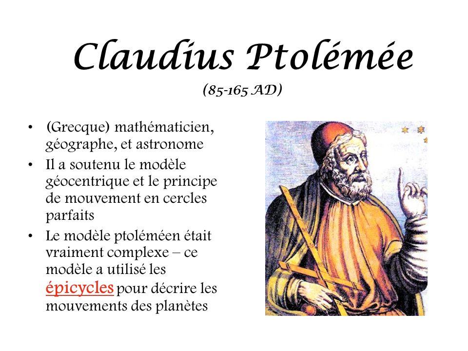 Claudius Ptolémée (Grecque) mathématicien, géographe, et astronome
