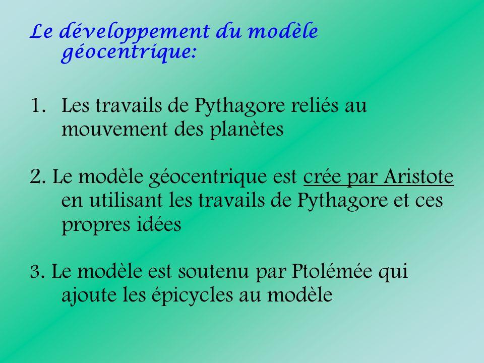Les travails de Pythagore reliés au mouvement des planètes