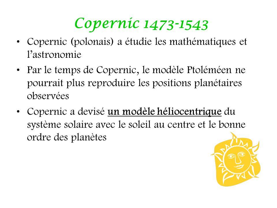 Copernic 1473-1543 Copernic (polonais) a étudie les mathématiques et l'astronomie.