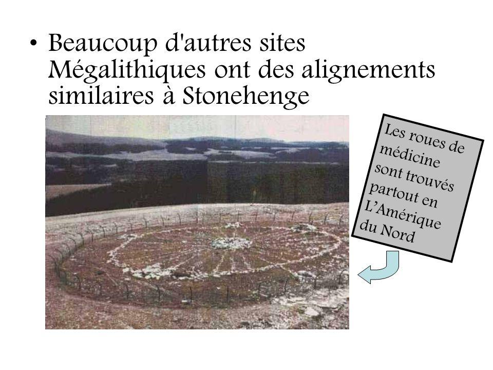Beaucoup d autres sites Mégalithiques ont des alignements similaires à Stonehenge