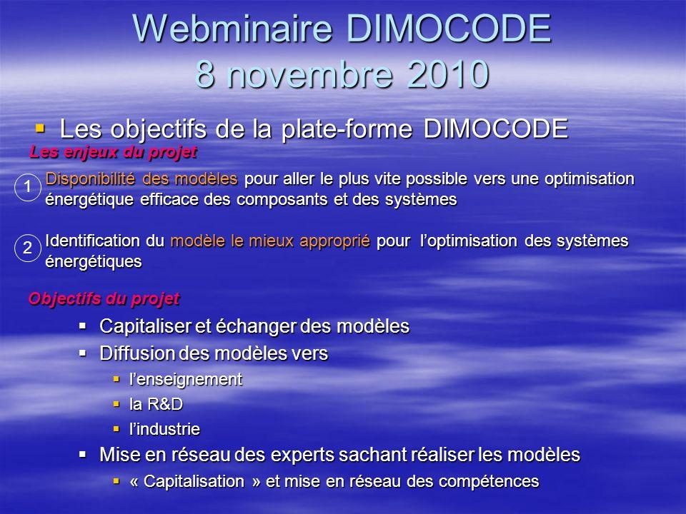 Webminaire DIMOCODE 8 novembre 2010