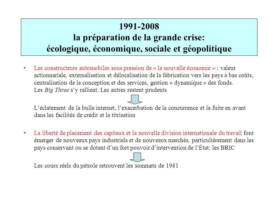 1991-2008 la préparation de la grande crise: écologique, économique, sociale et géopolitique